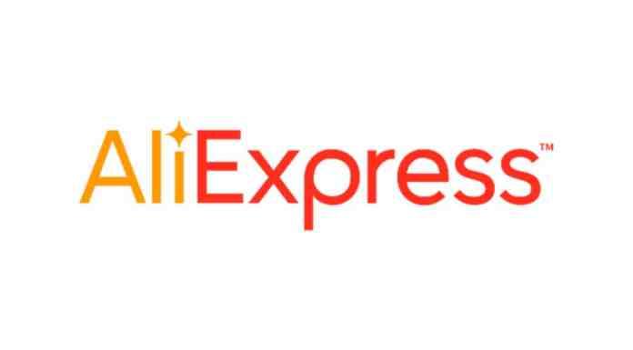 Logo da AliExpress, site que lançou a entrega de 12 dias.