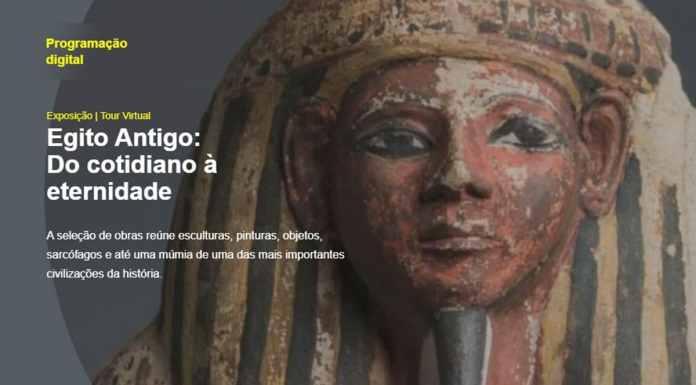 Exposição virtual do Egito Antigo, do BB Seguros, para comemorar o Dia Internacional dos Museus.