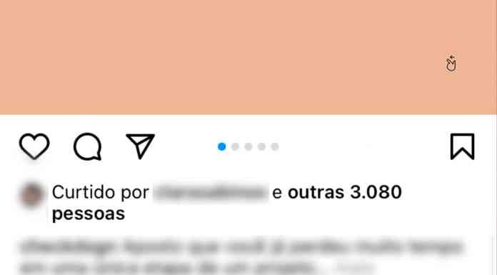 Instagram exibição de curtidas