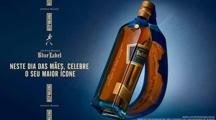 Foto da garrafa de Johnnie Walker Blue Label de Dia das Mães.