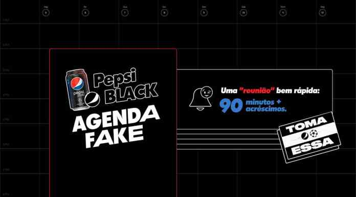 Foto de divulgação da agenda fake de Pepsi.