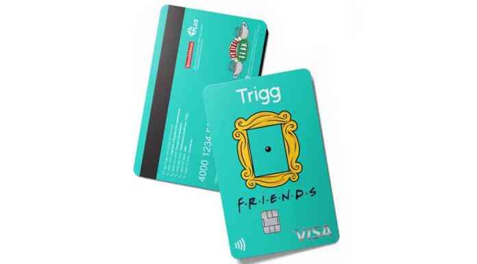 Cartão de crédito de Friends da Trigg.