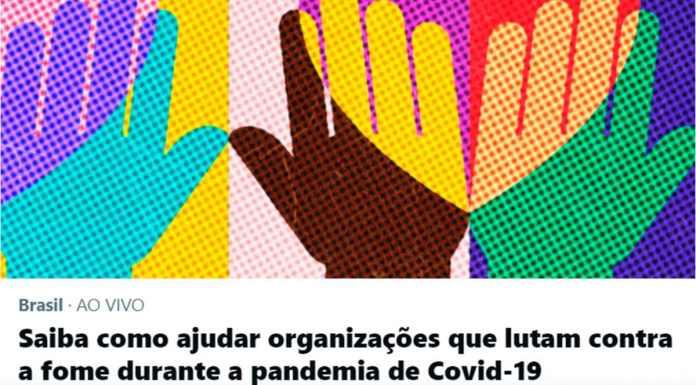Página de indicação de ONGs, uma das iniciativas do Twitter na luta contra a fome.