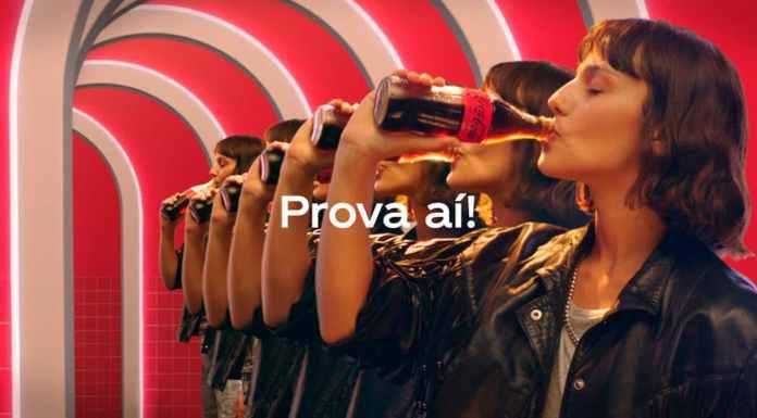 Campanha de Coca-Cola Sem Açúcar.