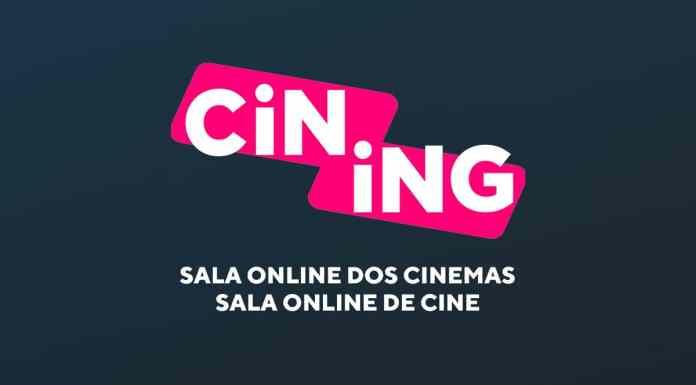 Página de entrada da Cining