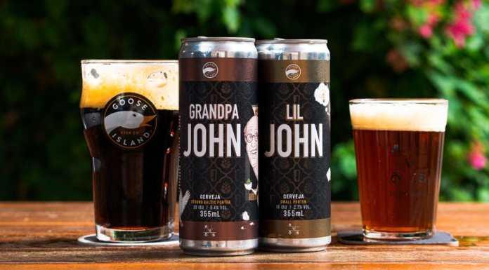 Cervejas da Goose Island e Avós para John Hall.