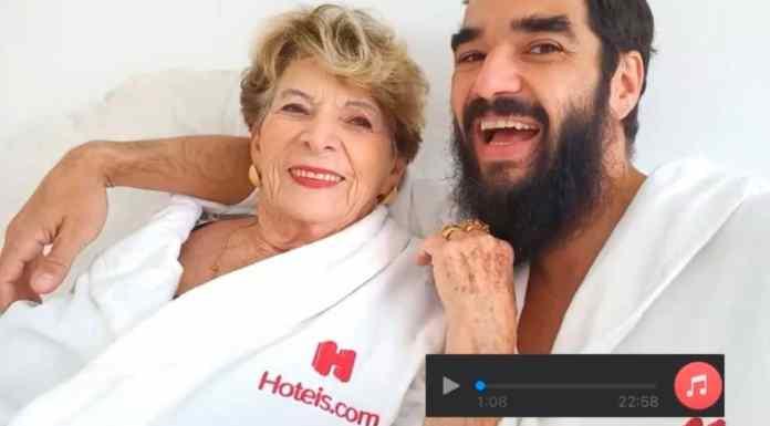 Campanha da avó de Caio Blat para a Hoteis.com.