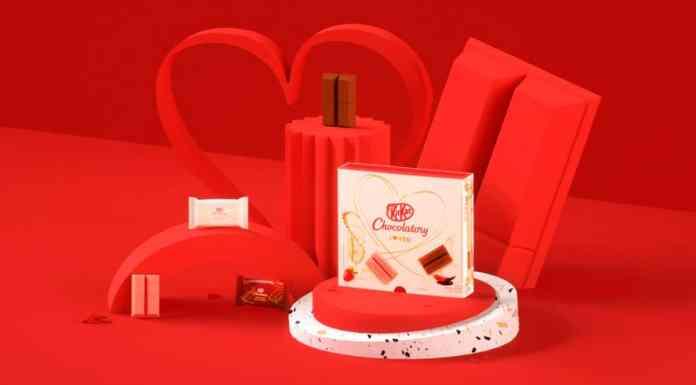 Foto de divulgação do KitKat de Dia dos Namorados.