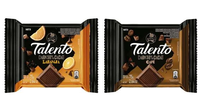 Novos sabores da linha Dark da Garoto.
