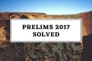UPSC Prelims 2017: Solved