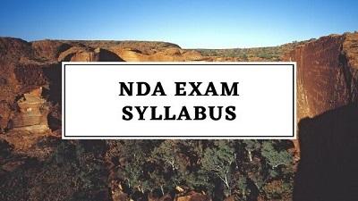 nda exam syllabus - NDA Exam Syllabus