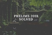 UPSC Prelims General Studies Paper-I Solved 2018