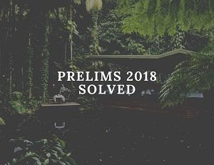 upsc prelims 2017 solved - UPSC Prelims General Studies Paper-I Solved 2018