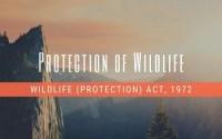 Wildlife Protection Act, 1972