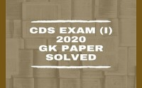 CDS I 2020 General Knowledge Paper Solved