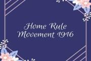 The Home Rule League, 1916