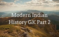 Modern Indian History GK Part 2