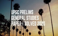 IAS Prelims General Studies Paper-I Solved 2020