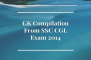 GK Compilation From SSC CGL Exam 2014