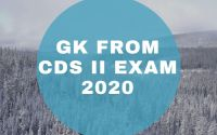 GK From CDS II EXAM 2020