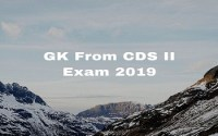 GK From CDS II Exam 2019