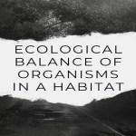 Ecological Balance Of Organisms In A Habitat