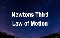 Newtons Third Law of Motion and conservation of momentum