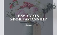 Essay on Sportsmanship
