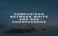 Comparison between White and Red Phosphorous
