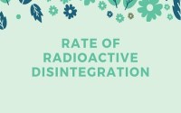 Rate of Radioactive Disintegration
