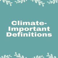 Climate- Important Definitions