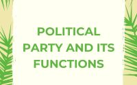 Political Party and its Functions