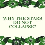 Why the Stars do not Collapse