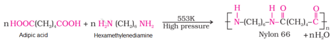 nylon 66 reaction - Preparation and Uses of Some Important Polymers