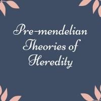 Pre-mendelian Theories of Heredity
