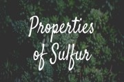 Properties of Sulfur
