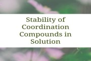 Stability of Coordination Compounds in Solution