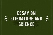 Essay on Literature and Science
