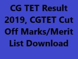 CG TET Result 2019