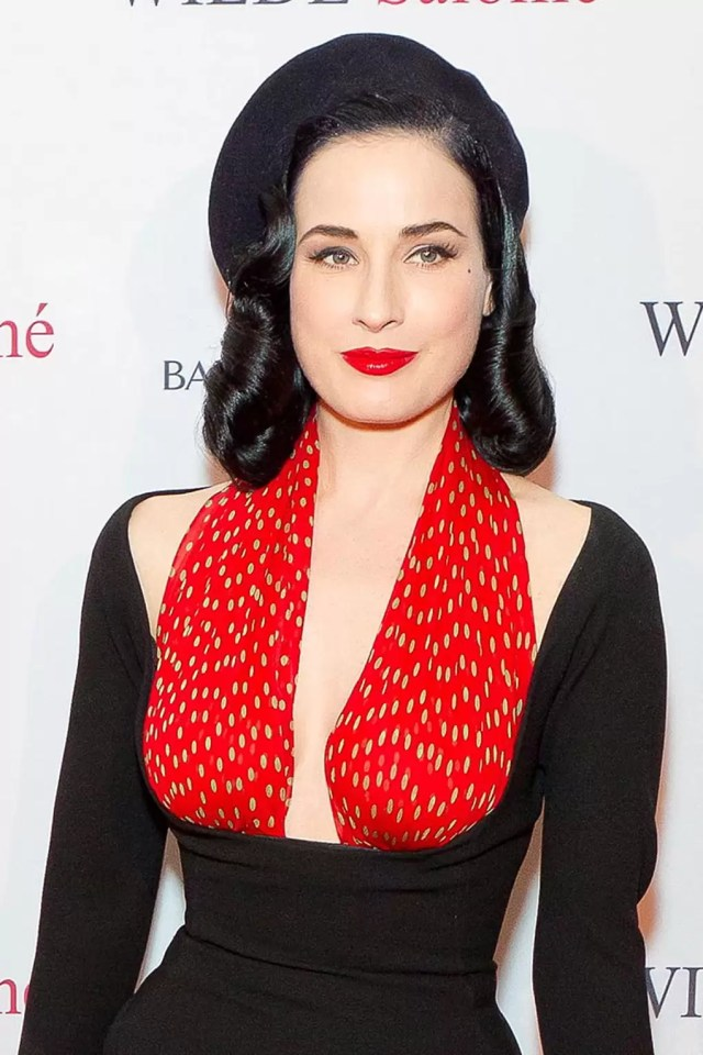 dita von teese's ultra-voluminous hairstyle - celebrity hair
