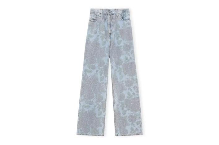 Ganni X Levi's Printed Light Indigo Denim Jeans, £275,