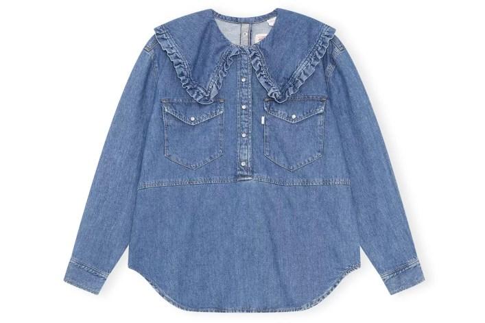 Ganni X Levi's Peter Pan Collar Shirt, £225, Ganni - available 24th February