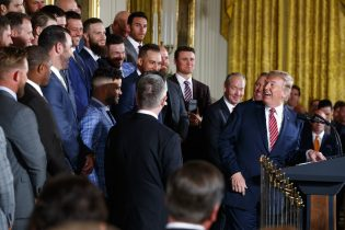 President Trump Thanks Houston Astros for Aid After Hurricane Harvey