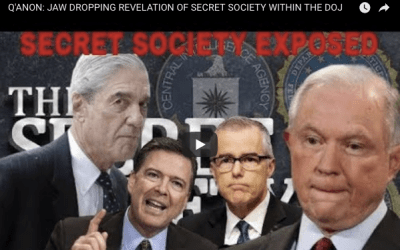 Q'ANON: JAW DROPPING REVELATION OF SECRET SOCIETY WITHIN THE DOJ – Watch Video