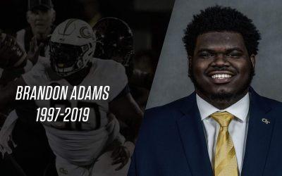 Georgia Tech football player Brandon Adams dead at 21, school says