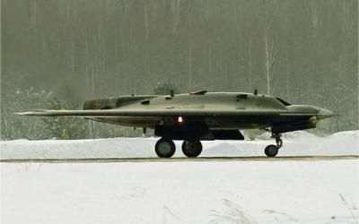 Satellite Imagery Spots Russia's New Combat Stealth Drone