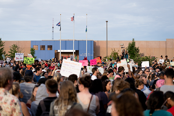 Hundreds protest in Colorado ahead of planned ICE arrests