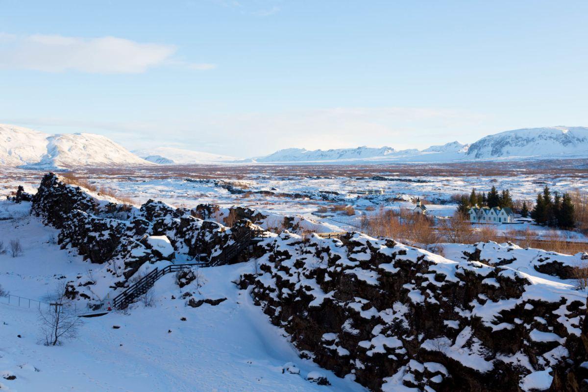 Thingvellir national park winter