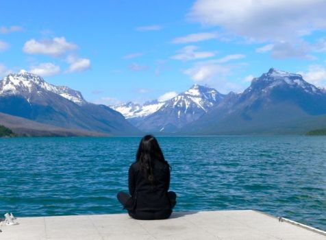 Contemplation by Lake McDonald