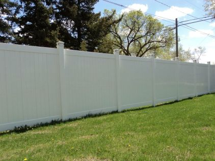 Solid Privacy PVC Fence